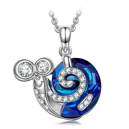 "J Nina ""caracol Turbo"" Cute Animal Diseño Collar Colgante Hecho con Swarovski®"