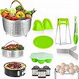 14 Pieces Pressure Cooker Accessories Set Compatible with Instant Pot Accessories 6,8 Qt- Steamer Basket, Non-stick Spring fo