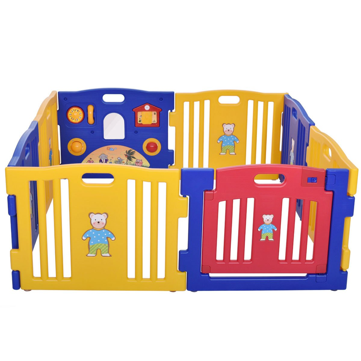 New 8 Panel Safety Play Center Baby Playpen Kids Yard Home Indoor Outdoor Pen by Eade shop (Image #2)