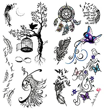 Amazon Com Oottati 2018 Temporary Tattoos 3d Stickers 2 Sheets
