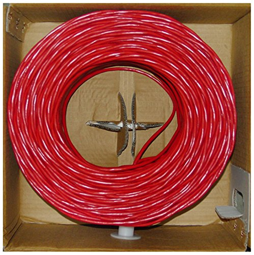 Offex Bulk Cat5e Ethernet Cable Solid UTP, Pullbox, 1000-Foot, Red (OF-10X6-071TH)