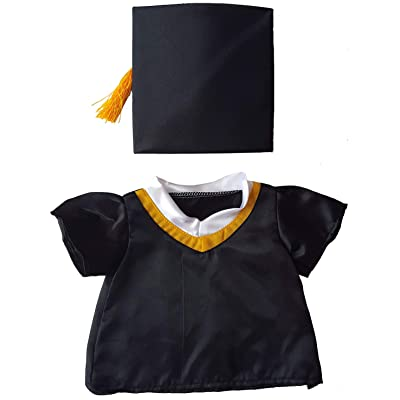 "Graduation Cap & Gown Outfit Teddy Bear Clothes Fits Most 14"" - 18"" Build-a-bear and Make Your Own Stuffed Animals : Toys & Games"
