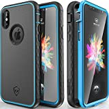 Protective iPhone X Case, Wrestler Kylin Series 360 Degree Full Body (Built-in Screen Protector) Shockproof iPhone 10 Case, Military 10-Feet Drop Tested Heavy Duty Cases for iPhone X (Blue/Black)