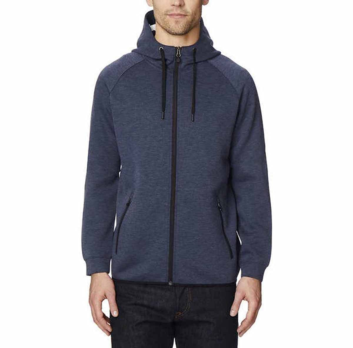 32 DEGREES Men's Hoodie Sweatshirt Full Zip Tech Fleece Track Jacket