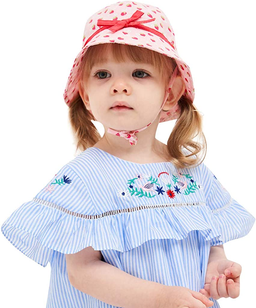 con stampa di frutta ragazze per bambini anti-UV Moneycom per neonati per spiaggia protezione solare Cappellino con visiera parasole da viaggio