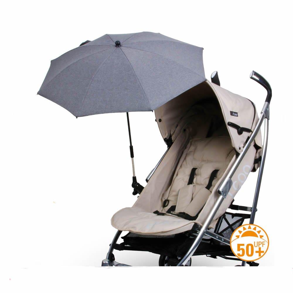 Deluxe Pram,Stroller, Buggy, Universal Parasol Anti UV 50 -GREY diago