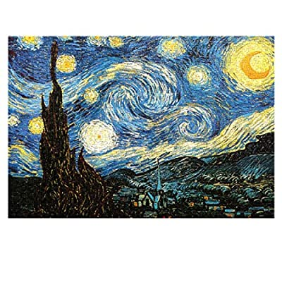 1000 PCS Starry Night Jigsaw Puzzles, Educational Intellectual Fun Game Toys Gift Jigsaw Puzzle for Kids Adults: Toys & Games