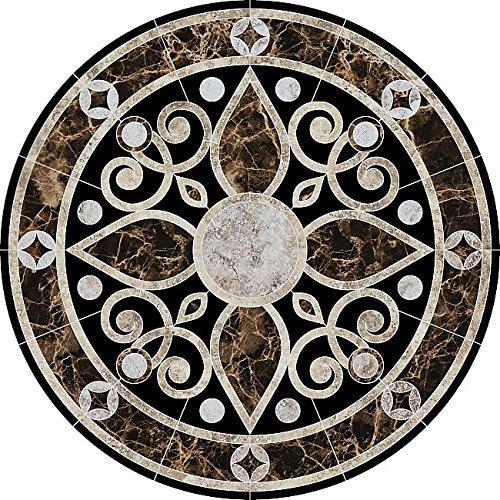 Baroque Medallion 2 Porcelain Swimming Pool Mosaic (36