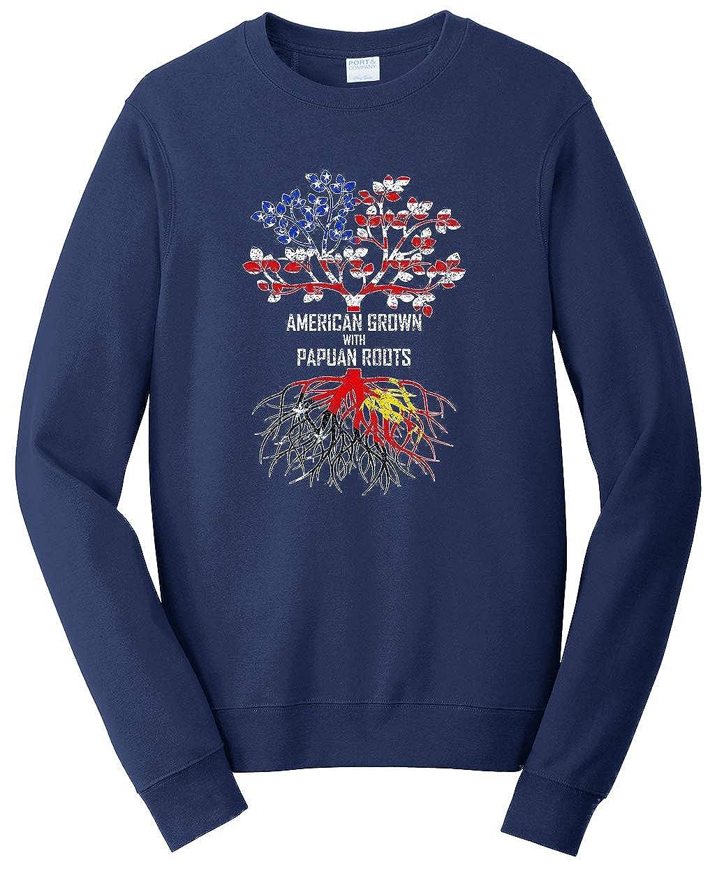 Tenacitee Unisex American Grown with Papuan Roots Sweatshirt