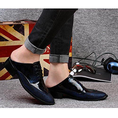 Sandali Mezzo Pistoncino Pinuo Sandali Traspiranti Discoteca Da Parrucchiere Pantofole Marea Scarpe Oxford In Pelle Blu