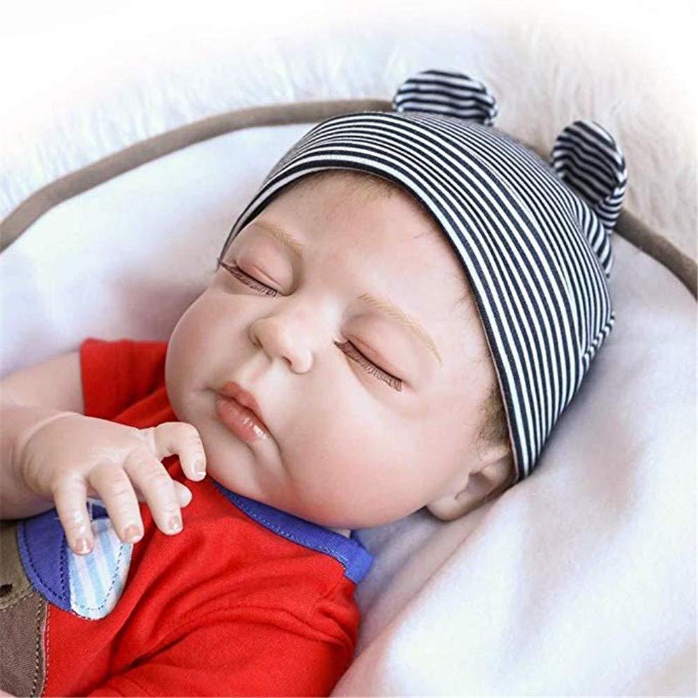 Reborn Dolls Sleeping Baby Boy Dolls 57cm Rare Alive Silicone Vinyl Full Body Washable Newborn