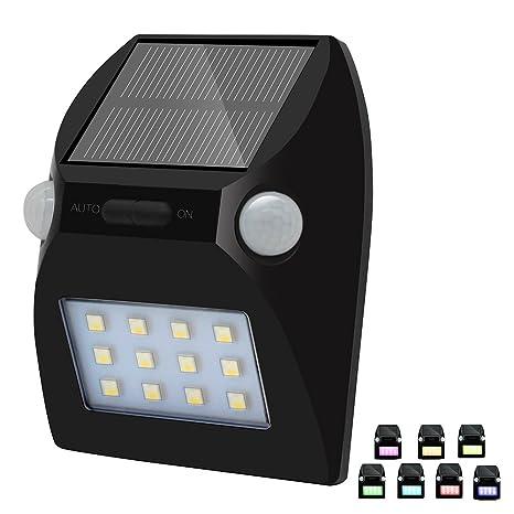 Lámpara de LED, solar, de seguridad, con sensor de movimiento y detección de