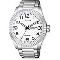 CITIZEN 西铁城 男士指针式石英手表 不锈钢表链 BM8530-89AE