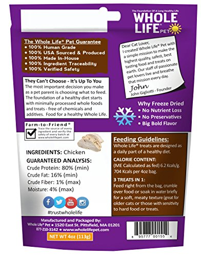 Whole-Life-Pet-Just-One-Single-Ingredient-Freeze-Dried-Treats-for-Cats-Pure-Chicken-Breast-4oz