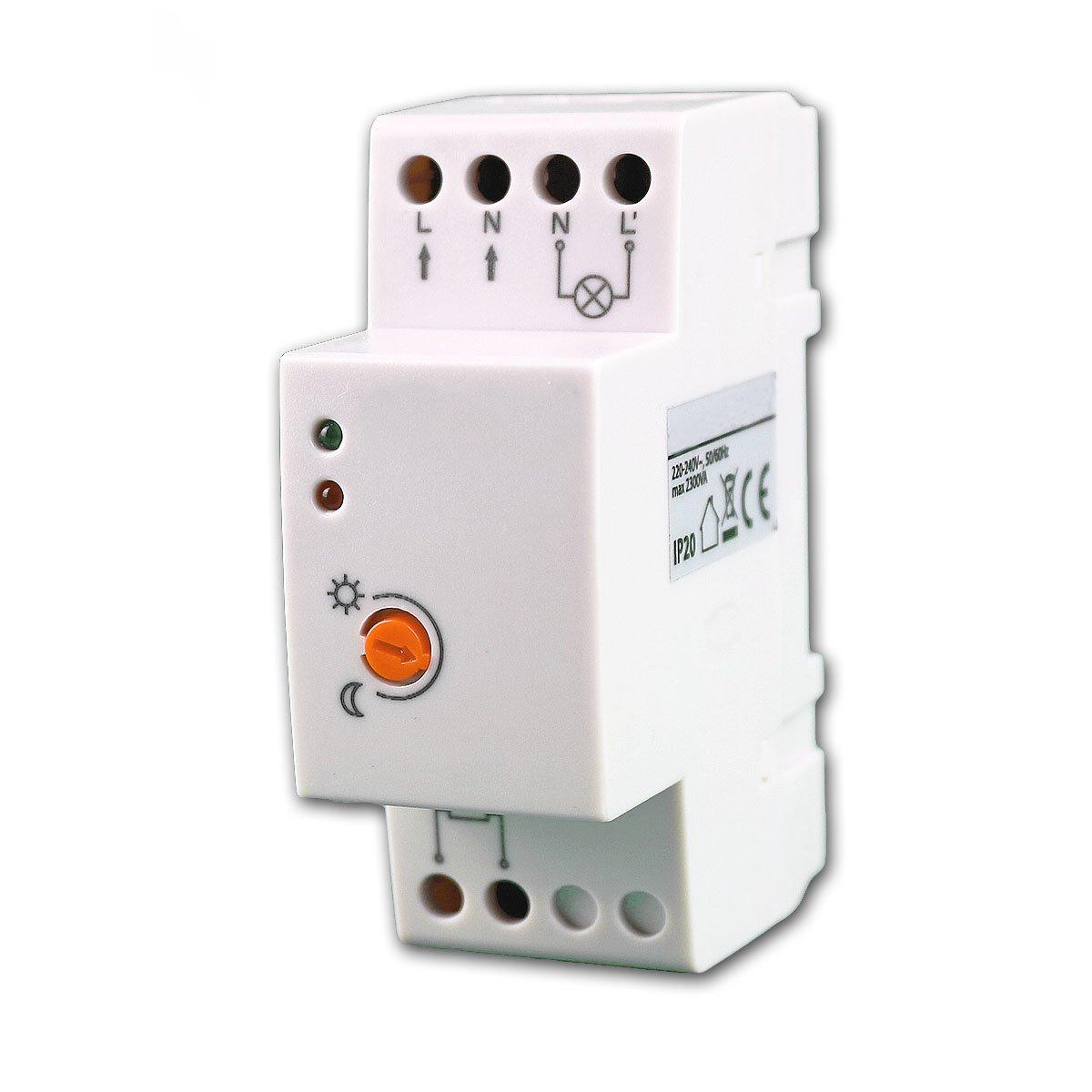 Dämmerungsschalter IP65 230V Schalttafel-Einbau Dämmerungssensor Schalter