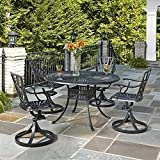 Home Styles 5560-325 5-Piece Dining Set, Charcoal Finish Review