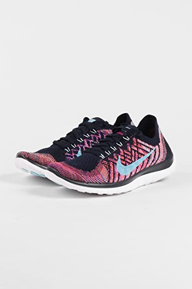 6df356db4c4a Womens Nike Free 4.0 Flyknit Trainers 717076 405 UK 7.5 US 10 EUR 42   Amazon.co.uk  Shoes   Bags