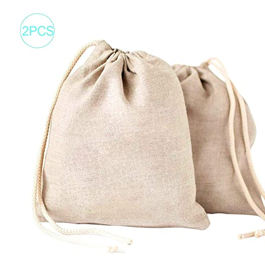 wonderday 2PCS Bolsas de Muselina de algodón, Bolsa de algodón con ...