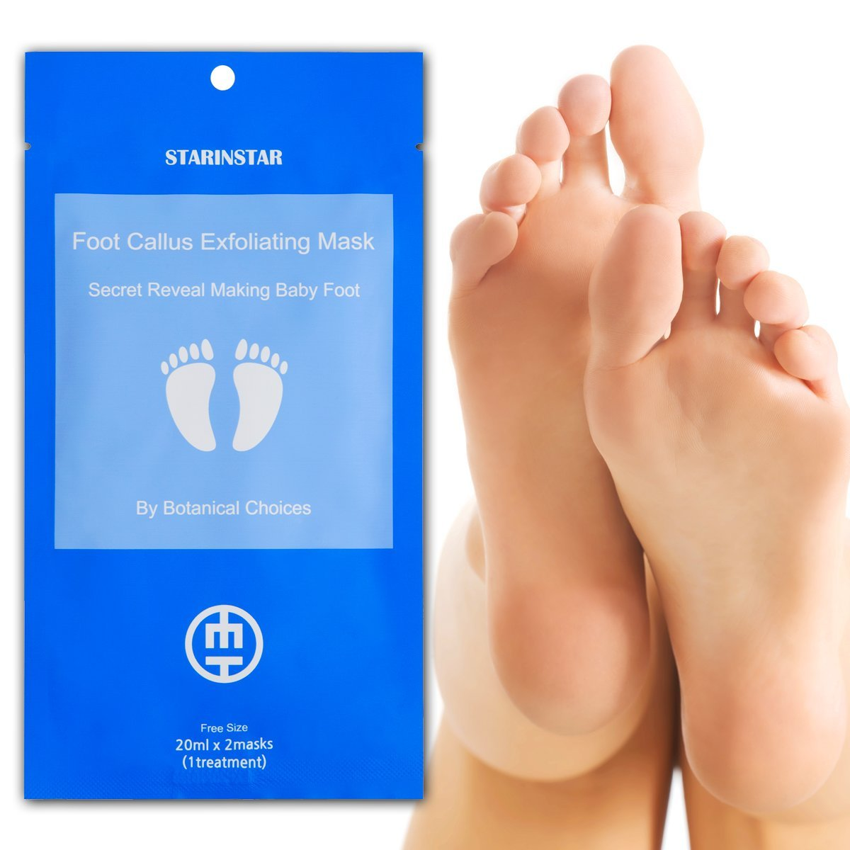 [STARINSTAR] Foot Callus Maschera esfoliante 1 paio, Secret Reveal Making Baby Foot di Botanical Choices- Papaya, Limone, Mela, Estratti di arancia, Inizio Peeling in 4-7 giorni dopo l'uso, Rimosso altri 3-5 giorni a seconda del loro spessore Swift Co. Ltd