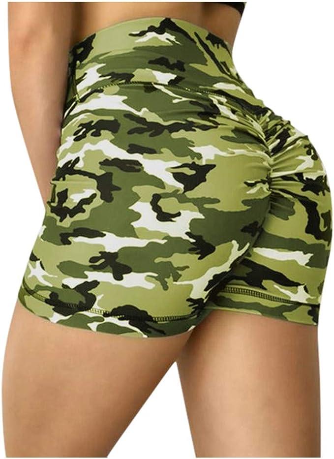 KUNANG Womens Workout Shorts Scrunch Booty Gym Yoga Pants Middle//High Waist Butt Lifting Sports Leggings, Tight hip high waist yoga shorts,Womens tight sports shorts
