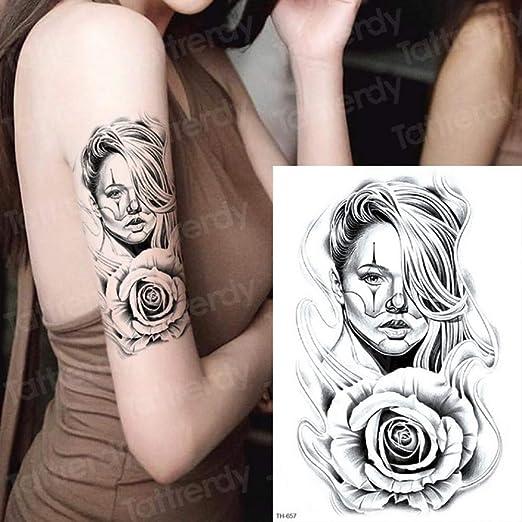 Handaxian 3pcsFemale Waterproof Tattoo Man Black Sketch Tattoo ...
