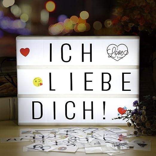 Caja de luz LED A4 de infinitoo, con 196 letras y 28 símbolos ...