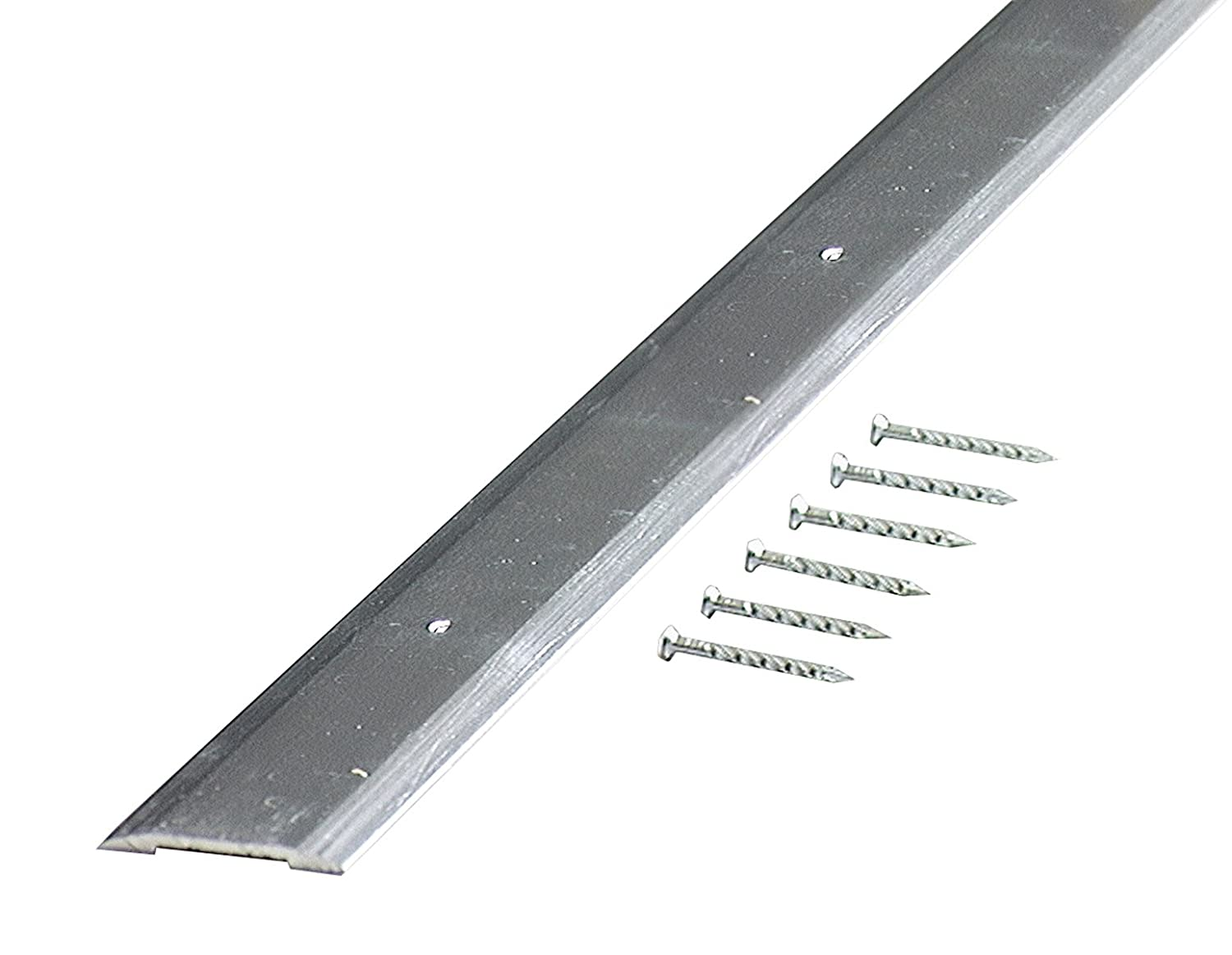 M-D Building Products 66019 M-D Smooth Seam Binder, 36 in L X 1-1/4 in W, Aluminum, quot quot, Polished