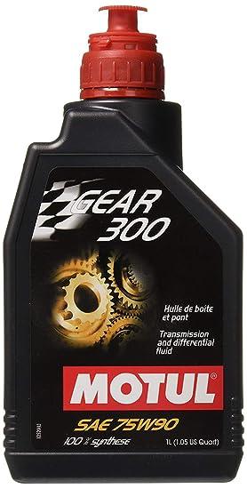 MOTUL Gear 300 75 W-90 105777/100118 Gear Aceite 1 Litro: Amazon.es: Coche y moto