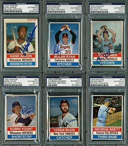 1976 Hostess Baseball Cards Signed Complete Set Of 150 W/Thurman Munson - PSA/DNA Certified - Autographed Baseball Cards ()