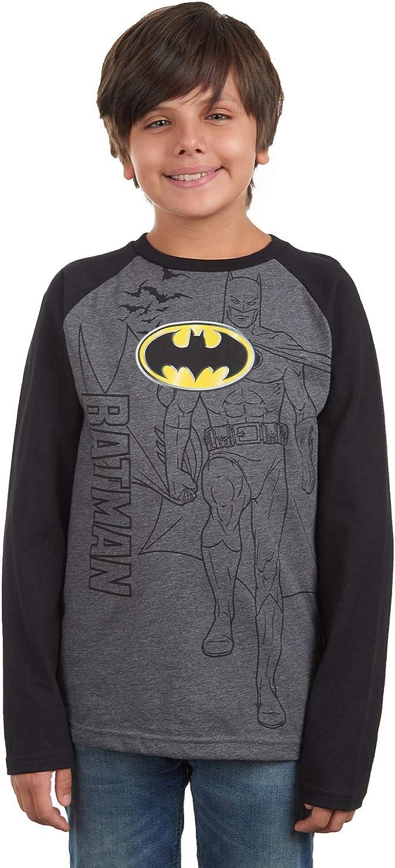 Sizes 4-12 Justice League DC Comics Batman Boys Long Sleeve Pajama Pant Set