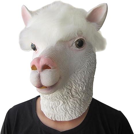 Lubber disfraz de Halloween máscara de látex de alpaca animal ...