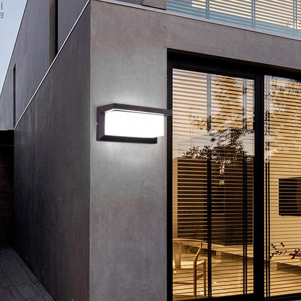 Suguoguo Europäische Wandleuchte, Moderne minimalistische LED Wandleuchte, Villa Garten Korridor Balkon Treppen Outdoor Wasserdichte Wandleuchte