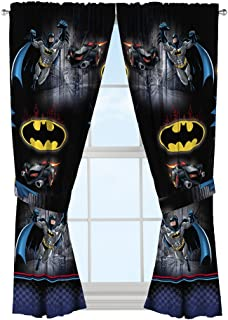 Warner Bros Batman Safe Again Window Drapes, 82 X 63