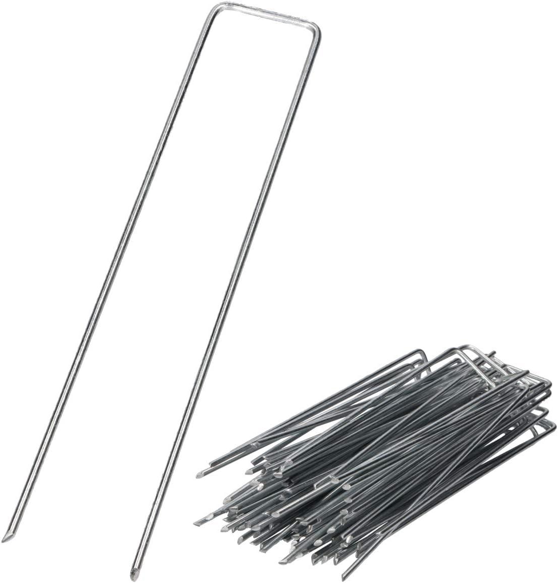 /Ø 3mm zur Sicherung von Unkrautvlies Netzen GARDENIX 100 St/ück IronPEG Verzinkt Anti-Rost Erdanker aus Stahldraht 200 x 30mm Maschendraht Bodenplanen