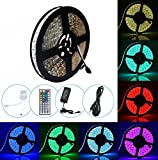 Guaiboshi 33ft/10m 600leds Strip Light, Flexible LED RGBW 5050 Lamp Tape DIY Full Kit with 44 Keys Remote Control for Home Indoor Decoration, Power Supply Included