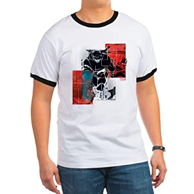 36912025fe7 Amazon.com  CafePress Marvel Knight Daredevil 1 Ringer T-Shirt  Clothing