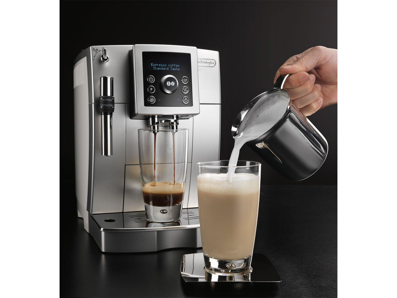 DeLonghi ECAM 23.420.SW - Máquina de café, 1450 W, 220-240V, 238 x 430 x 338 mm, 9100 g, color negro y plato: Amazon.es: Hogar