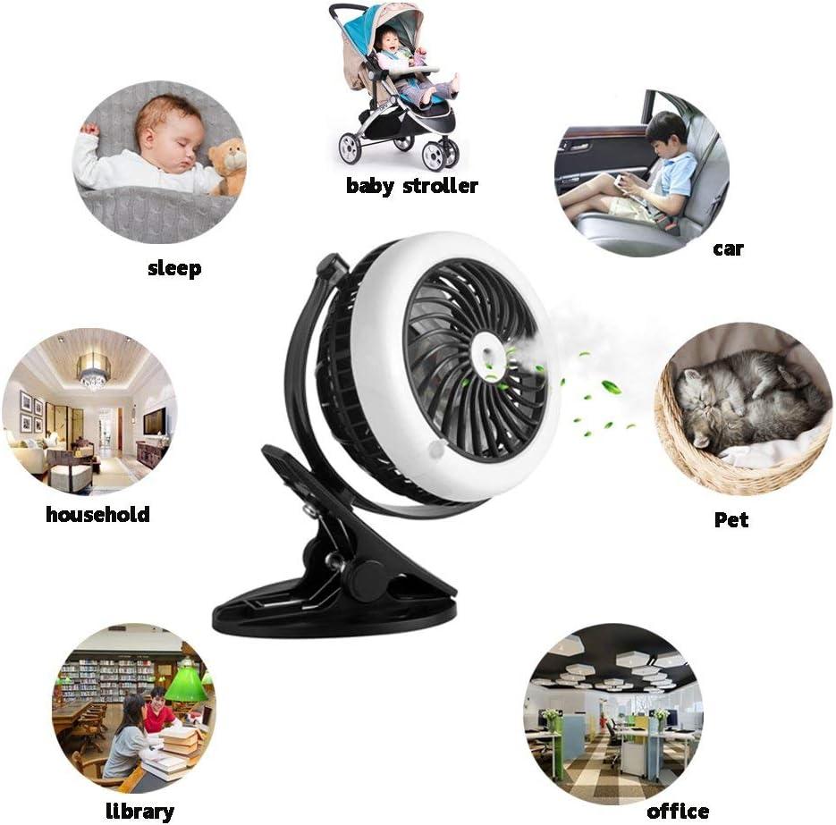 SZ-JIAHAIYU Battery Operated Fan,Portable Misting Fan, Water Spray Fan,Mini Desk Fan,USB Rechargeable Battery Operated Fan,with Cooling Humidifier Black White