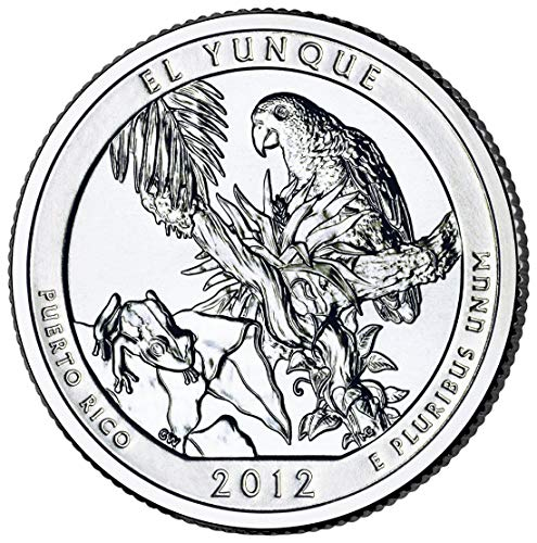(2012 S El Yunque Puerto Rico National Forest NP Quarter .25 Proof US Mint Limited Edition Proof Set)