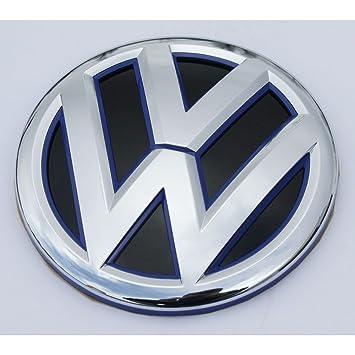 Recambios y Accesorios Originales Volkswagen Emblema maletero (embellecedor exteiror) para Jetta, Passat, Polo modelos 2011 en adelante (cromado / azul ...