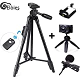 Eloies Yunteng 50 Inch Wireless Bluetooth Tripod Combo Deal Contains | 50inch DSLR Mobile Tripod | 7inch Table Tripod | Tripod Mobile Clamp | Metal Clip Microphone for Audio Recording. 😉