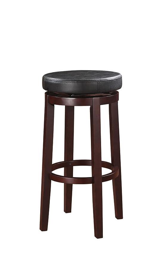 Astounding Linon 98353Kblk 01 Kd Maya Bar 29 Black Stool Evergreenethics Interior Chair Design Evergreenethicsorg