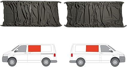 Gris Camper Van cortinas Kit para puerta corredera mano izquierda y derecha panel: Amazon.es: Coche y moto