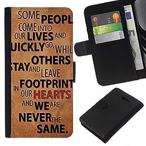 - LIFE CHANGE RELATIONSHIPS LOVE QUOTE PEOPLE - - Prima caja de la PU billetera de cuero con ranuras para tarjetas, efectivo desmontable correa para l Funny House FOR Sony Xperia M2