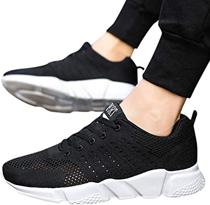 US Womens Mens Trainers Running Fitness Shoes Mesh Sneakers Lace Up Breathable