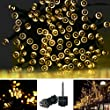 Accmor LED String Light - 72ft 220 LED Solar Powered Outdoor Waterproof Starry Fairy String Lights - Ambience Lights for Patio, Gardens, Homes, Landscape Decoration (Warm White)