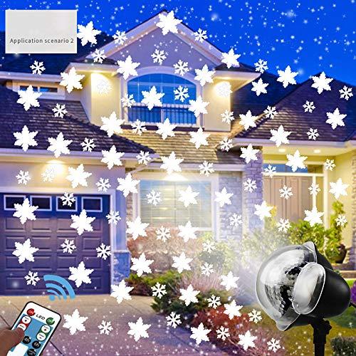 Nevadas LED De Luz Del Proyector, De Navidad Del Copo De Nieve ...