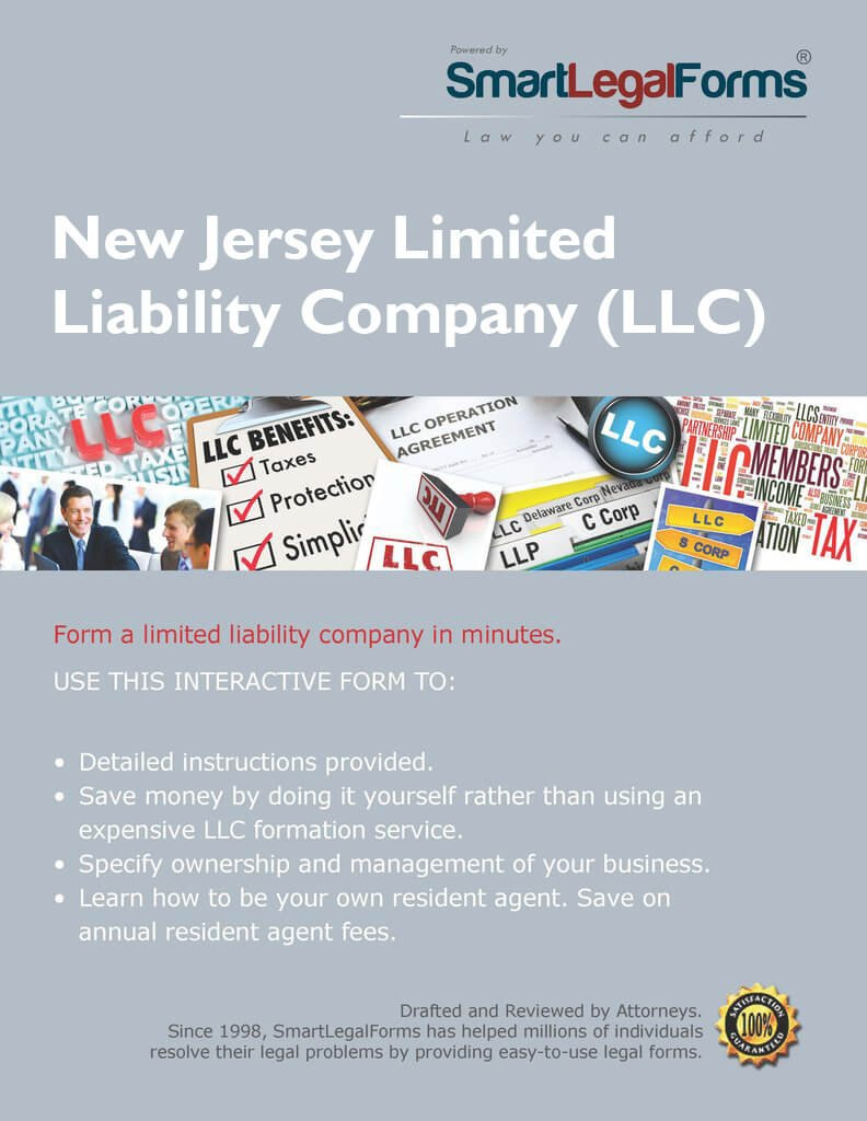 Articles of Organization of a Limited Liability Company - NJ [Instant Access] by SmartLegalForms, Inc.