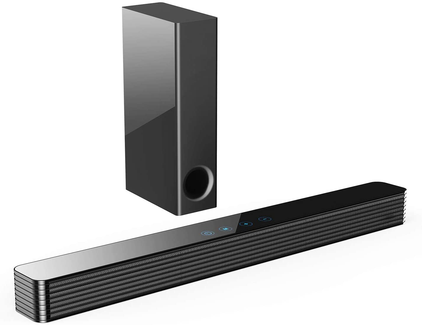 Norcent KB2020 Black Mamba Series 25-Inch Sound Bar with Sub-woofer, Wired and Wireless Bluetooth 5.0 Extra Powerful Bass Speaker Soundbar 2020 New Version MB-2521
