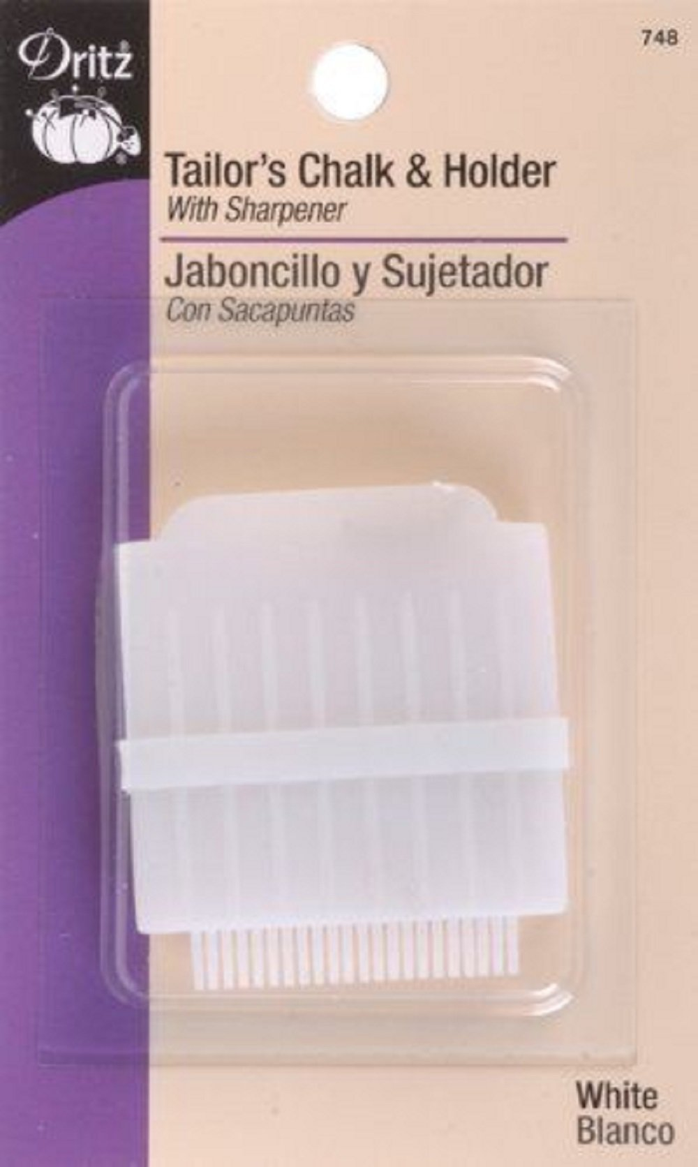 Tailor's Chalk & Holder With Sharpener-White For Measuring Sewing Quilting